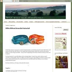 Silk ribbon bracelet tutorial