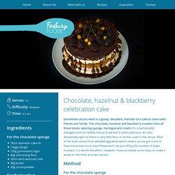 Chocolate, hazelnut & blackberry celebration cake - Juanita - Masterchef