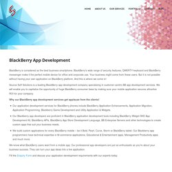 Blackberry Mobile App Development Company