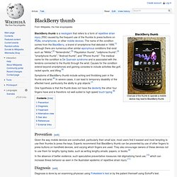 Blackberry thumb