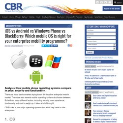 iOS vs Android vs Windows Phone vs BlackBerry: Which mobile OS is right for your enterprise mobility programme?