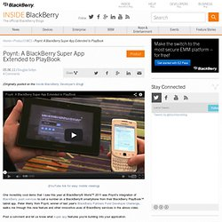 Poynt: A BlackBerry Super App Extended to PlayBook