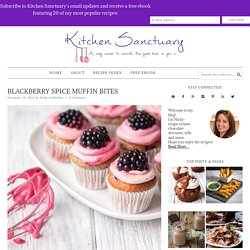 Blackberry Spice Muffin Bites - Nicky's Kitchen Sanctuary