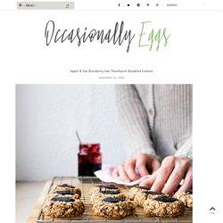 Apple & Oat Blackberry Jam Thumbprint Breakfast Cookies