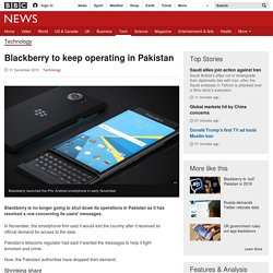 Blackberry to keep operating in Pakistan