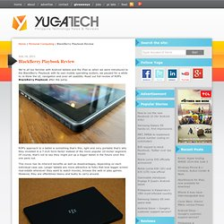 BlackBerry Playbook Review | YugaTech | Philippines, Technology News