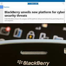BlackBerry unveils new platform for cyber security threats