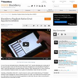 PlayBook Native Email App Demo (VIDEO)