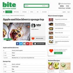 Apple and blackberry sponge top – Recipes
