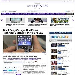 BlackBerry Outage: RIM Faces Technical Glitches For A Third Day