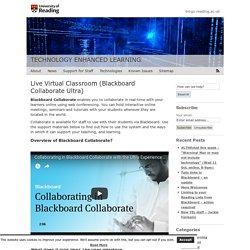 Live Virtual Classroom (Blackboard Collaborate Ultra)