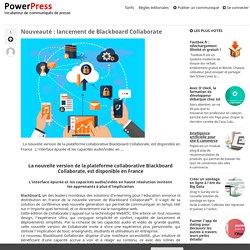 Nouveauté : lancement de Blackboard Collaborate