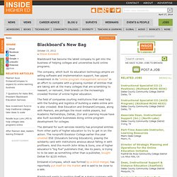 Blackboard makes a play in online course development