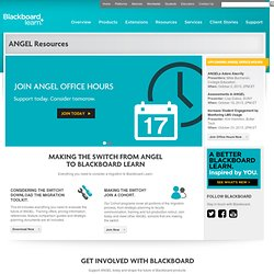 ANGEL Learning -- Learning Management Suite for K-12 and Higher