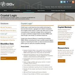 Blackbox Logic is a leading provider of US RMBS loan level data and analytics services