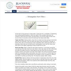 Blackburn Tools - Triangular saw files