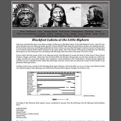 Blackfoot Lakota at the Little Bighorn