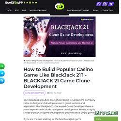 BLACKJACK 21 Game Clone Development
