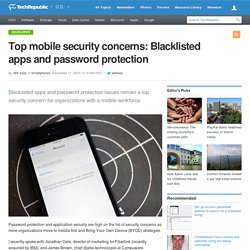 Top mobile security concerns: Blacklisted apps and password protection
