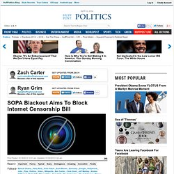 SOPA Blackout Aims To Block Internet Censorship Bill