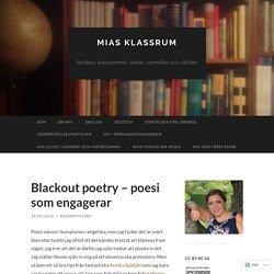 Blackout poetry – poesi som engagerar