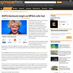SOPA blackouts begin as MPAA calls foul