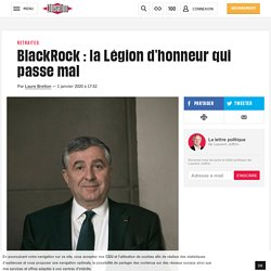 BlackRock: la Légion d'honneur qui passe mal