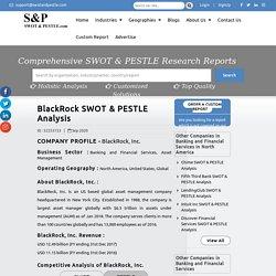 BlackRock, Inc. SWOT & PESTLE Analysis