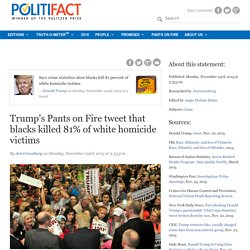 Trump's Pants on Fire tweet that blacks killed 81% of white homicide victims