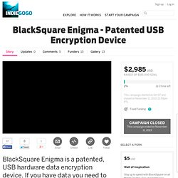 BlackSquare Enigma - Patented USB Encryption Device