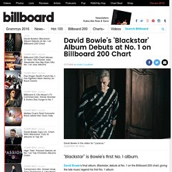 David Bowie's 'Blackstar' Album Debuts at No. 1 on Billboard 200 Chart