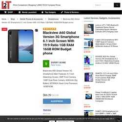 Buy Blackview A60 Global 3G Smartphone