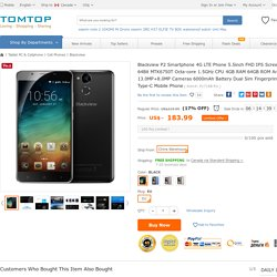 Only US$192.99, Blackview P2 Smartphone 4G LTE Phone 5.5inch FHD IPS Screen - Tomtop.com