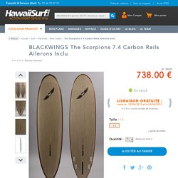 Planche de surf Blackwings The Scorpions 7.4 Carbon Rails Ailerons Inclu