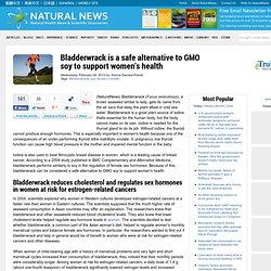 Bladderwrack is a safe alternative to GMO soy to support women's health