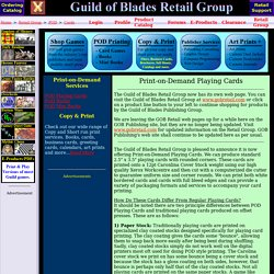 Guild of Blades Retail Group: Retail Division of the Guild of Blades Publishing Group