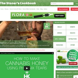 Blaine's Cannabis Honey - The Stoner's Cookbook