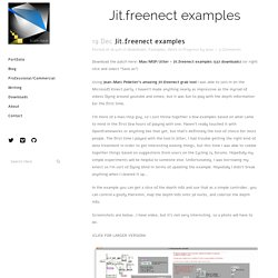 Jit.freenect examples