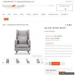 Blair wing back Armchair Trolley grey
