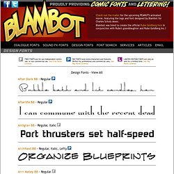 Comic Fonts and Lettering