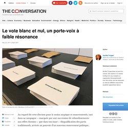 Le vote blanc et nul, un porte-voix à faible résonance