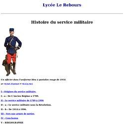 Histoire du service militaire