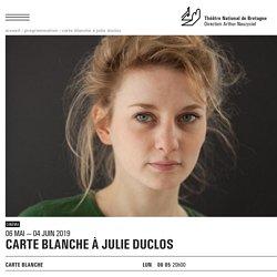 Carte blanche à Julie Duclos au Cinéma du TNB