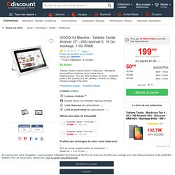 """QOOQ V4 Blanche - Tablette Tactile Android 10"""" - Wifi (Android 5, 16 Go stockage, 1 Go RAM)"""