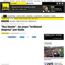 """""""Race blanche"""" : des propos """"terriblement dangereux"""" pour Guaino"""