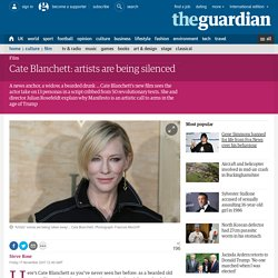 Cate Blanchett: artists are being silenced