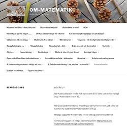 Blandade OEQ – om-matematik