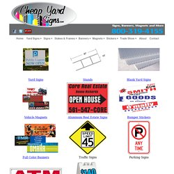 Buy Blank Yard Sign For Business