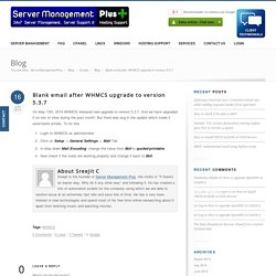 Blank email after WHMCS upgrade to version 5.3.7