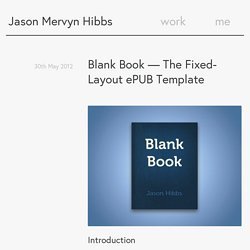 Blank Book — The Fixed-Layout ePUB Template – Jason Mervyn Hibbs